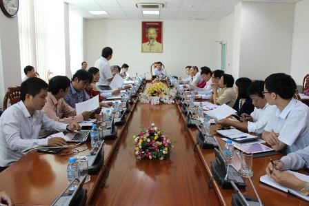 Lãnh đạo UBND tỉnh nghe báo cáo kế hoạch tổ chức xét tuyển chọn Ý tưởng quy hoạch xây dựng Khu Trung tâm logistics Cái Mép Hạ