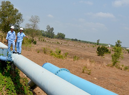 Dự án tuyến ống truyền tải nước D800 do BVDIF tài trợ được đưa vào vận hành