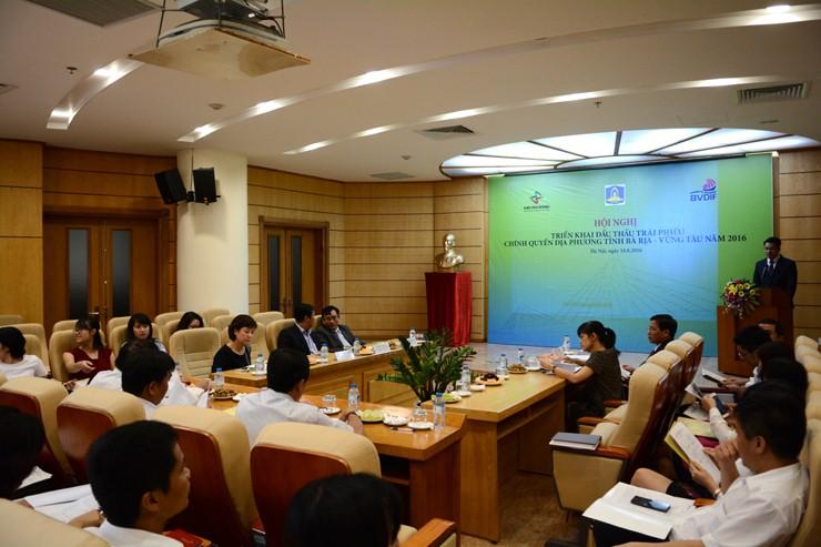 Thông cáo Báo chí chuẩn bị đấu thầu 500 tỷ đồng trái phiếu chính quyền địa phương do tỉnh Bà Rịa-Vũng Tàu phát hành