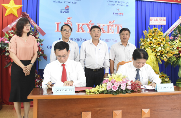 BVDIF và EVN ký kết bản ghi nhớ nguyên tắc hợp tác.